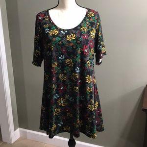 LulaRoe floral tunic size XL NWOT